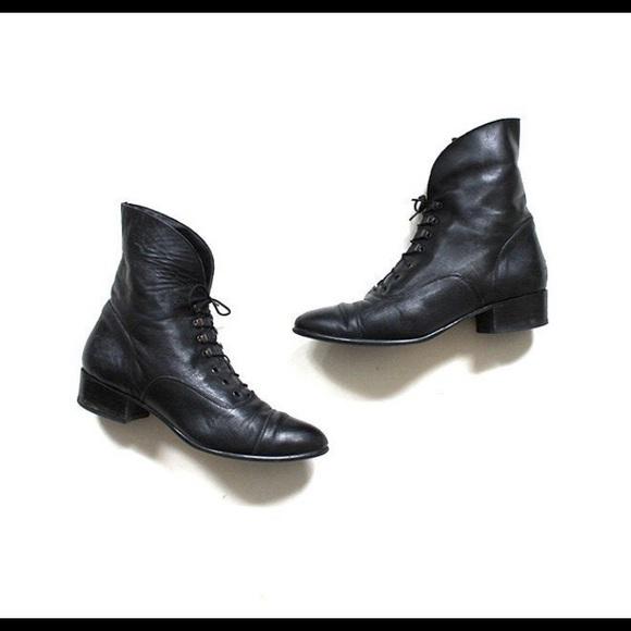 Vintage Black Ankle Boots
